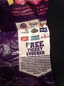 Merlin Entertainment Free Entry Voucher Alton Towers Thorpe Park Legoland Etc