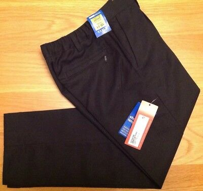 Brand New Boys Black School Trousers Marks & Spencer Age 10-11 Years