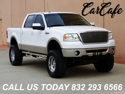 2008 Ford F-150 CREW CAB KING RANCH 4X4 08 FORD F150 CREW CAB KING RANCH 5.4L V8 4X4! LEATHER SEATS! DUAL EXHAUST TIPS!