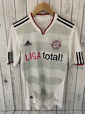 f2d60700a83 adidas FC Bayern Munchen LIGA Total Soccer Jersey White Size Small Men s D3
