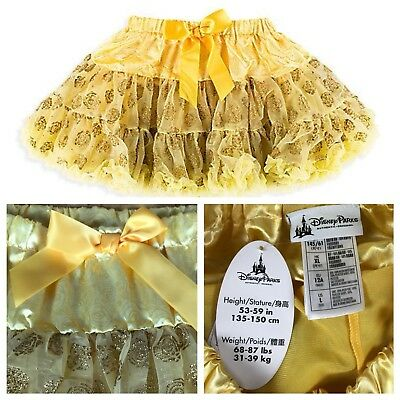 Disney Store Authentic Belle Beauty And The Beast Tutu Costume Size Large 10-12