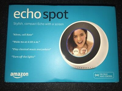BRAND NEW AMAZON Echo Spot Smart Assistant - White boxed and sealed