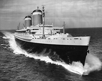 New 8x10 Photo: Ocean Liner SS UNITED STATES, Last Blue Riband Cruise Ship
