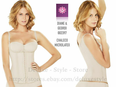 Diane-002397 Lined Shaper Vest Faja Colombiana Para Mujer Latex Reduce Inches.