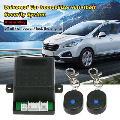12V Universal Car Immobilizer Anti Theft Security Alarm System GPS Tracker Y7U7