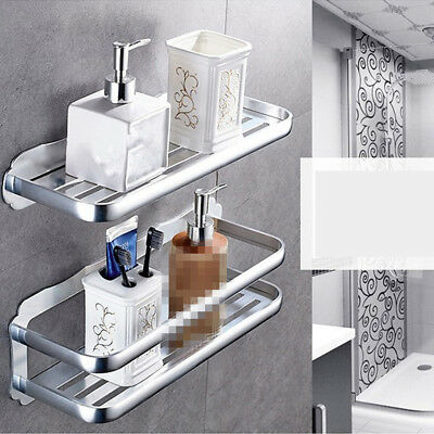 1x Wall Mounted Bathroom Towel Shower Storage Shelf Kitchen Storage Rack