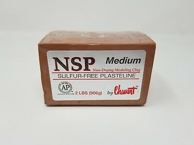 Chavant NSP Medium (Brown) 2 Lb Brick
