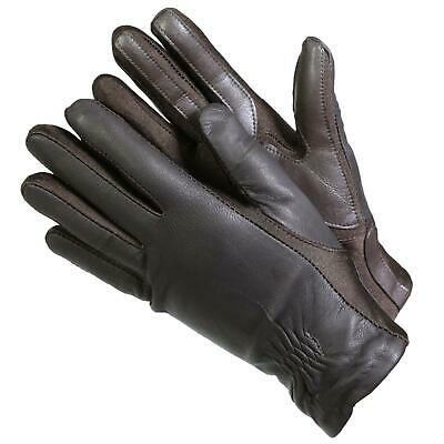 Isotoner 40262 Women's Leather SmarTouch Touchscreen Gloves Brown L/XL