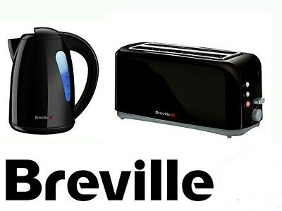 Breville Kettle and Toaster Set 2-slot 4-Slice Black Toaster and Kettle FREE P&P
