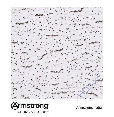 Armstrong Tatra 600x600 958M board 4 Suspended Ceiling Tiles, 1 box