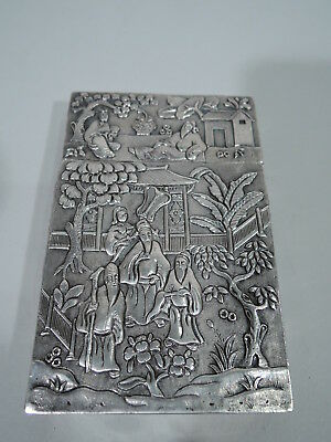 Export Case - Antique Asian China Trade Card Modish Exotics - Chinese Silver