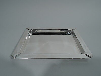 Tiffany Tray - Art Deco Modern Style Deep Rectangular - Italian Sterling Silver