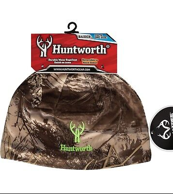 ae4a1b1b2af7f Huntworth Realtree Xtra Camo Youth Reversible Performance Beanie Hat