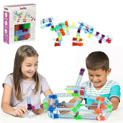 100 Pc Brackitz Inventor STEM Building Toy: Education Learning Set Kids Blocks