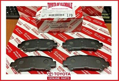 2008-2013 Toyota Highlander / Hv Rear Ceramic Brake Pads Genuine Oem 04466-Az105