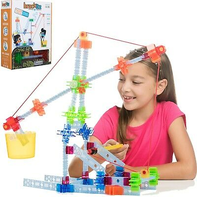 77 Pc Brackitz Pulley Engineering Kids Building Toy: STEM Learning Building Set