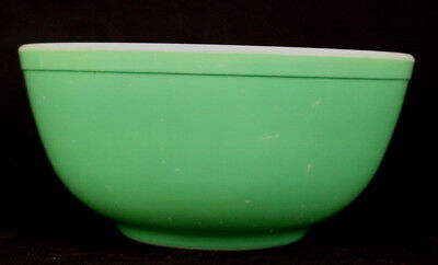 """Vintage Pyrex Primary Color Green 2.5 Qt Mixing Nesting Bowl  4"""" x 8-3/4"""""""