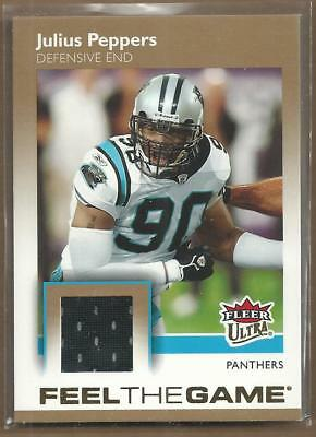 3b2711f16 2007 Ultra Feel the Game Jerseys Panthers Football Card  JPE Julius Peppers  Jsy