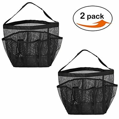 LoveHome 2 Pack Mesh Shower Caddy Bag Quick Dry Shower Tote Bag Hanging Toiletry