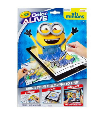 Wholesale Joblot 100 x Crayola Minions Colour Alive Re-sale Bulk RRP £695