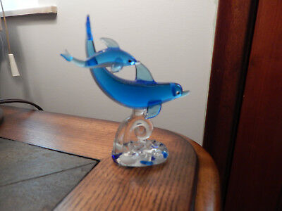 Dolphin Glass Figurine