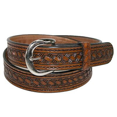 New CTM Men's Big & Tall Leather Western Belt with Removable Buckle