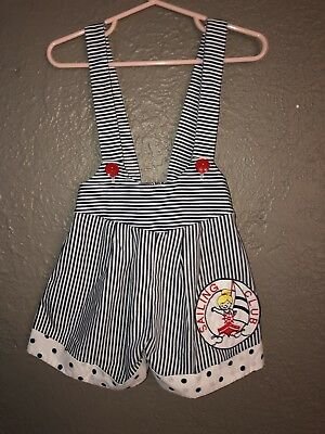 Vintage 2T Girls Sailing Club Overalls