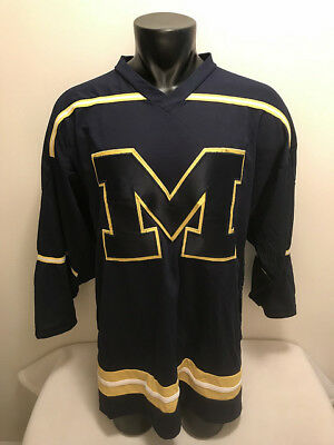 38c4bb717 Michigan Wolverines K1 Hockey Jersey Mens Size XL Sewn Stitched Made in USA