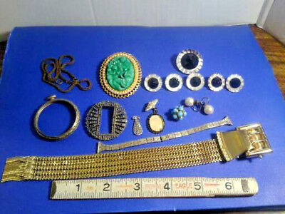 Lot Of Vintage Jewelry Wear Repair, Marcasites, Deco Watch Band, Bracelet Etc