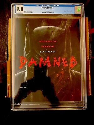 Batman Damned #1 CGC 9.8 White Pages - 1st Print UNCENSORED Lee Bermejo Cover A