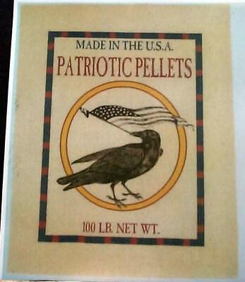 Patriotic Pellets Black Crow Holding American Flag Reprint 4Th Of July Labor Day