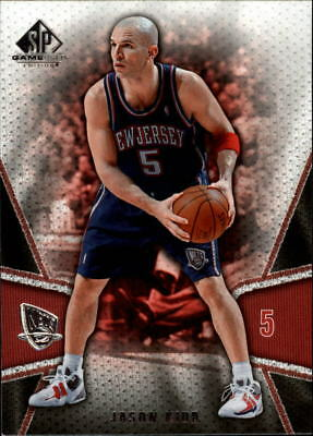 02b1314689b3 2007-08 SP GAME Used New Jersey Nets Basketball Card  121 Jason Kidd ...