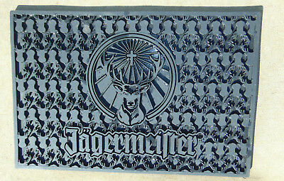 "LARGE 18"" Jagermeister Jager Bar Spill Drip Mat Rail Runner Rubber Black NEW"