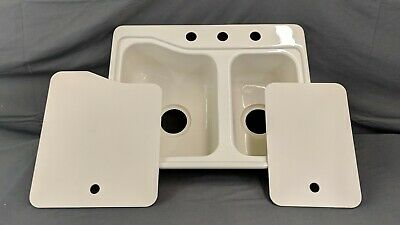 Rv Kitchen Sink Cover Cutting Board Double Basin Parchment Fits 25