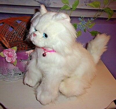 My Twinn Poseable Pets So Lovely White Persian Cat W/collar And Bell