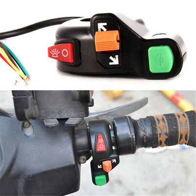 Motorcycle Horn Turn Signal Light Switch For 7/8'' Handlebar Dirt Bike Scooter