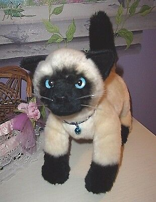 My Twinn Poseable Pets Siamese Cat W/rhinestone Collar And Bell