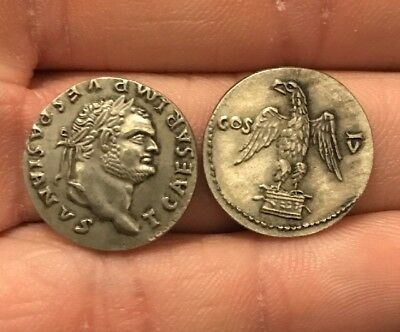 RESTRIKE Silver Plated Ancient Roman -76bc Coin Rome