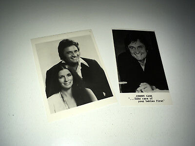 JOHNNY CASH Vintage Press Photos Lot 1970s Country Music Rock & Roll June Carter