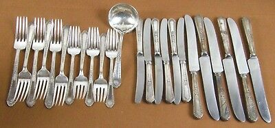 Holmes & Edwards Inlaid ROMANCE 1925 Silverplate Flatware 24 pc. Partial Set