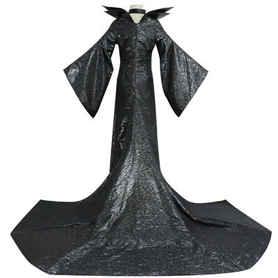 Adult Ladies Maleficent Evil Queen Costume Witch Womens Fancy Dress Halloween