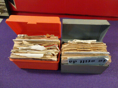 Two Vintage Recipe Boxes Full Metal And Plastic