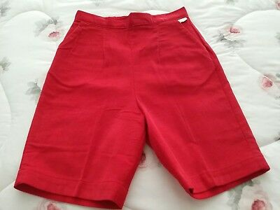 Vintage Jrs 1950s Deadstock New Old Red Corduroy Bermuda Shorts S + 2 free pair