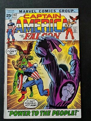 """Captain America #143 Falcon Red Skull """"Power To The People"""""""