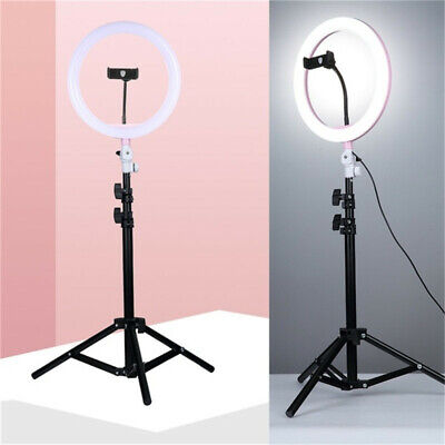 "Photo Studio LED Ring Light 8"" Ring Lamp Photographic Lighting + 1.1M Tripod"