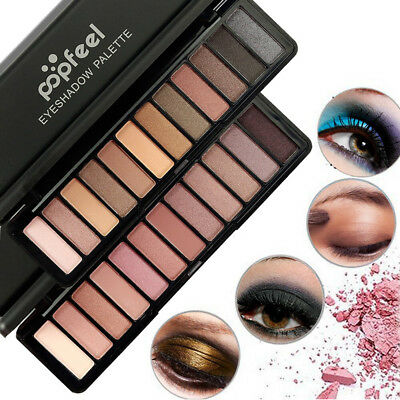 Wonderful 12 Color Women Cosmetic Matte Eyeshadow Cream Makeup Palette Shimmer
