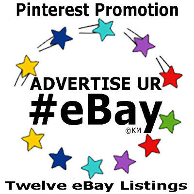 Promote eBay 12 Listings Store Feature Pinterest Board 5 Days Advertising