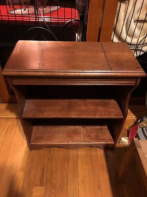 Vintage Antique Style Small Bookcase Bookshelf Adjustable Home Office FS