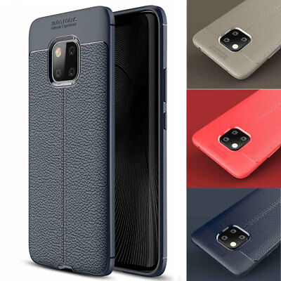 Luxury TPU Leather Shockproof Rubber Case Cover for Huawei Mate 20 Pro/Mate 20X