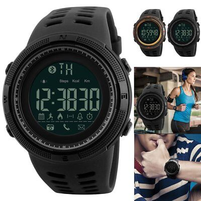 SKMEI Mens Waterproof Sport Smart Watches Bluetooth Digital Sports Wrist Watch